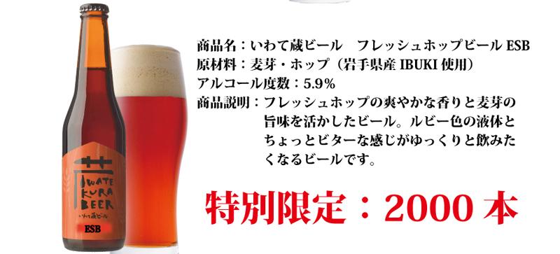 そして出来上がったフレッシュホップビールは2000本です