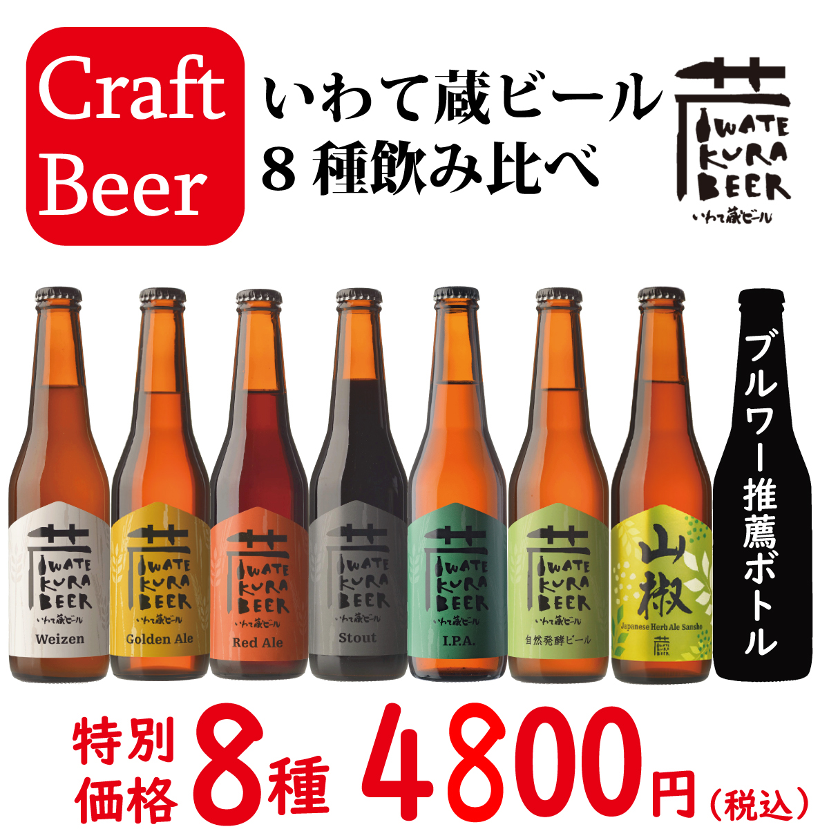 クラフトビール8種のみ比べ